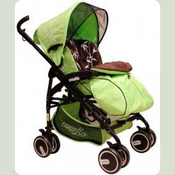 Универсальная коляска Everflo PP-04 BS с мягкой люлькой Бамбук Зеленый