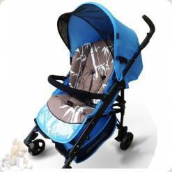 Универсальная коляска Everflo PP-04 DC с пластиковой люлькой Бамбук Голубой