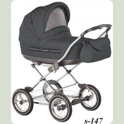 Универсальная коляска Roan Marita Lux S-147 Серый горошек
