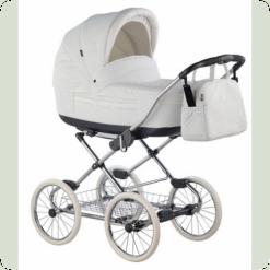 Универсальная коляска Roan Marita Prestige Chrome s-150 Экокожа (черные колеса)