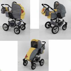 Универсальная коляска Tako Jumper X We Love Kids 02 Желто-серый