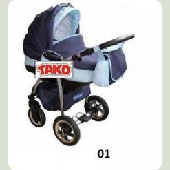 Универсальная коляска Tako Princess Classic 01 Сине-голубой