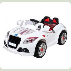 Усовершенствованный детский электромобиль B 28 A-2 R-1 с пультом управления (белый)