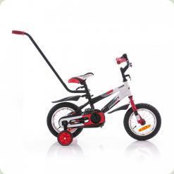"""Велосипед Azimut 12"""" Stitch Черно-бело-красный"""