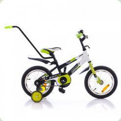 """Велосипед Azimut 12"""" Stitch A PУ Салатово-черный"""