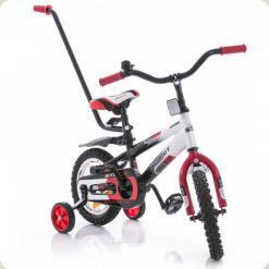 """Велосипед Azimut 12"""" Stitch A Py Красно-черный"""