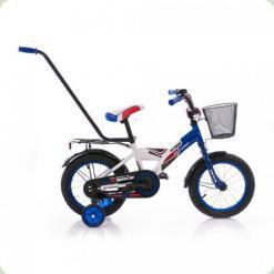 """Велосипед Azimut 14"""" MyBike Py с корзиной Сине-белый"""