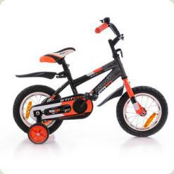"Велосипед Azimut 14"" Stitch РУ Черно-серо-оранжевый"