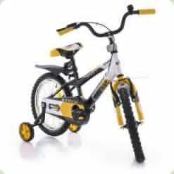"Велосипед Azimut 14"" Stitch РУ Желто-черно-белый"