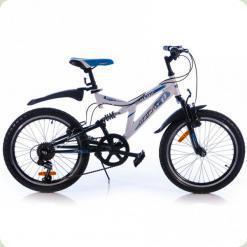 """Велосипед Azimut Dinamic G 20"""" (оборудование Shimano) Сине-белый"""