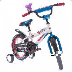 """Велосипед Azimut Fiber 12"""" Бело-голубой"""