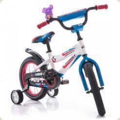 """Велосипед Azimut Fiber 14"""" Бело-голубой"""