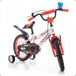 """Велосипед Azimut Fiber 16"""" Бело-оранжевый графит"""