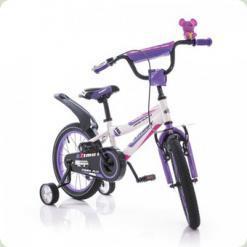 """Велосипед Azimut Fiber 16"""" Сиренево-белый"""