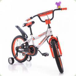 """Велосипед Azimut Fiber 18"""" Бело-оранжевый"""