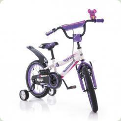 """Велосипед Azimut Fiber 20"""" Бело-фиолетовый"""