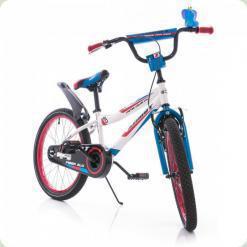 """Велосипед Azimut Fiber 20"""" Бело-голубой"""