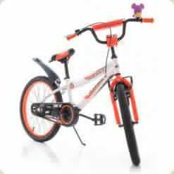 """Велосипед Azimut Fiber 20"""" Бело-оранжевый"""