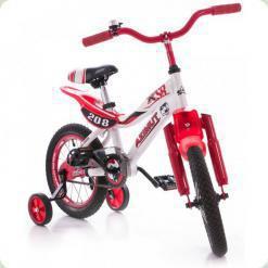 """Велосипед Azimut KSR 14"""" Белый с красным"""