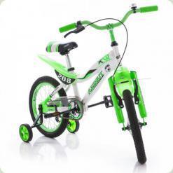 """Велосипед Azimut KSR 16"""" Бело-салатовый"""