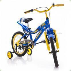"""Велосипед Azimut KSR 16"""" Желто-синий"""