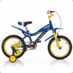 """Велосипед Azimut KSR Premium 18"""" Желто-синий"""