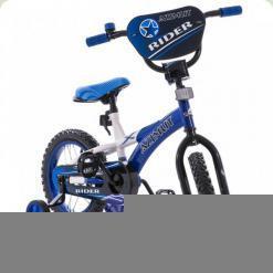 "Велосипед Azimut Rider 14"" Сине-белый"