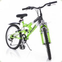 """Велосипед Azimut Stinger 20"""" Графит зеленый"""