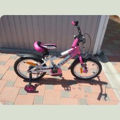 "Велосипед Azimut Stitch 16"" Бело-розовый"