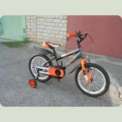 """Велосипед Azimut Stitch 16"""" Оранжево-черный"""
