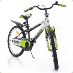 """Велосипед Azimut Stitch 20"""" Черно-салатовый-белый"""