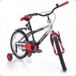 """Велосипед Azimut Stitch Premium 16"""" Красно-бело-черный"""