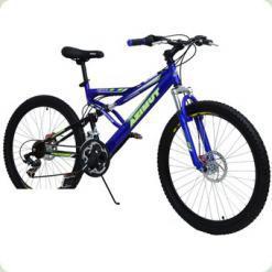 """Велосипед Azimut Venus G-FR-D 26"""" Сине-черный (26*110-G-FR/D)"""
