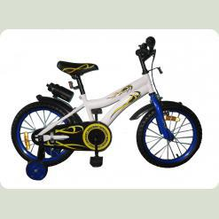 Велосипед двухколёсный - WHITE with Blue