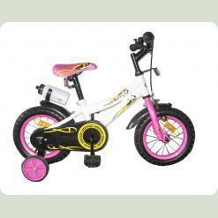Велосипед двухколёсный - WHITE with Pink