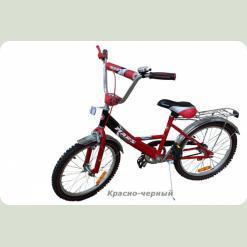 """Велосипед Марс 16"""" ручной тормоз+эксцентрик (красный/черный)"""
