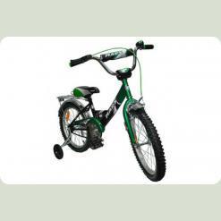 """Велосипед Марс 16"""" ручной тормоз+эксцентрик (зеленый/черный)"""