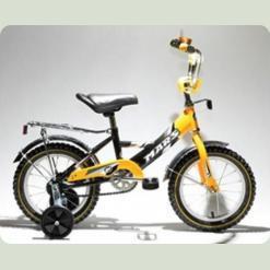 """Велосипед Марс 16"""" ручной тормоз+эксцентрик (желтый/черный)"""