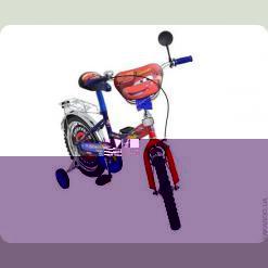 "Велосипед Mustang Тачки 14"" Красно-синий"