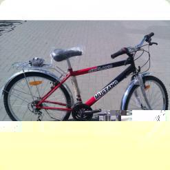 """Велосипед Mustang Upland 24"""" Красно-черный (24*160) + Сборка"""