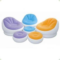 Велюр кресло Intex 68572 Orange
