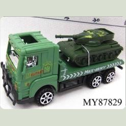 Военный грузовик с танком, фрикционный