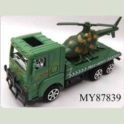 Военный грузовик с вертолётом, фрикционный