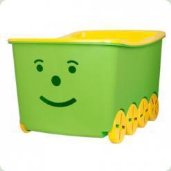 Ящик для игрушек Tega Play 52L BQ-005 (light green-yellow)
