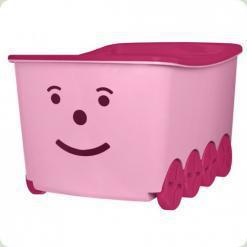 Ящик для игрушек Tega Play 52L BQ-005 (light pink-pink)