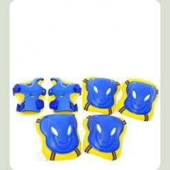 Защита для роликов Bambi MS 0340 размер L Синий с желтым