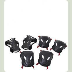 Защита для роликов Bambi MS 0340 размер M Черный с белым
