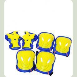 Защита для роликов Bambi MS 0340 размер M Желтый с синим