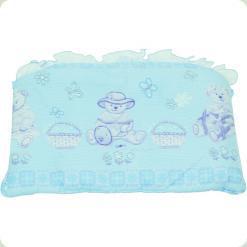 Защита на кровать Ассоль Мишка с машинкой Голубой
