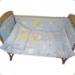 Защита на кровать Ассоль Мишки на месяце Голубой